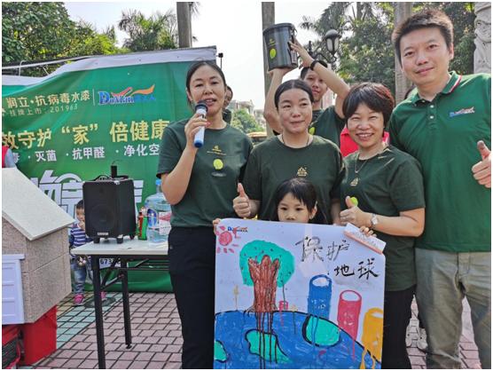健康又好玩,润立抗病毒水漆涂鸦比赛火爆碧桂园社区